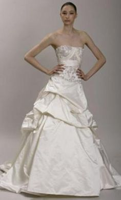 Used Monique Lhuillier Wedding Dress Isabella, Size 4