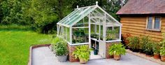 The Tradition 8 Planthouse is designed to be assembled on a brick wall to retain the traditional plant house style.