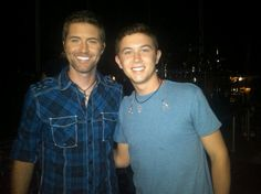 Scotty Mcceery and Josh Turner! My two favorite country singers! (: #lovethem