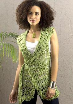 NaturallyCaron.com :: Deerfield Vest - crochet free pattern