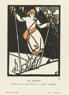 New item in my etsy shopLes Neiges costume for winter sports in the style of Rodier. Fashion plate from Gazette du Bon Ton 1920 reproduction print by PanchromaticaDesigns. Find it here http://ift.tt/2gMMk90