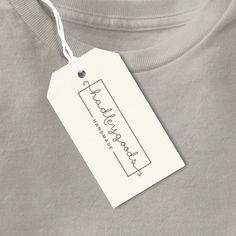 Custom Clothing Tags Handmade Tag Product Label by OrangeValentine