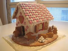 Talvinen perinteinen piparimökki. - by Niina -- #Joulu #Piparkakku #PipariBattle2013 sarja #3D