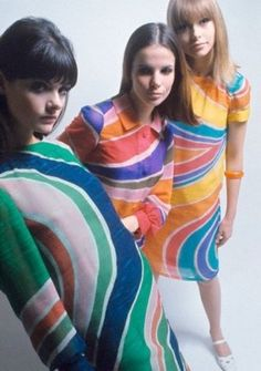 Mod dresses designed by Marc Bohan for Dior, 1966. Photo by David McCabe.