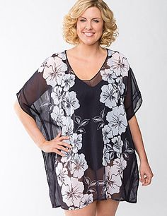 120ba191bb397 Sexy, sheer chiffon is even prettier pool-side as a lightweight,  quick-drying swim cover-up! Find Summer swimwear and accessories at