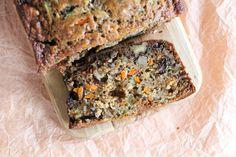 carrot zucchini banana walnut bread #dairyfree #healthy
