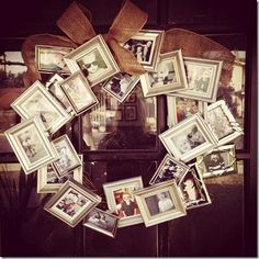 Do it yourself Picture Frame Wreath #DIY - A Spark of Creativity