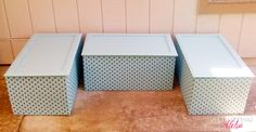 Toy {or storage} boxes from old kitchen cabinets