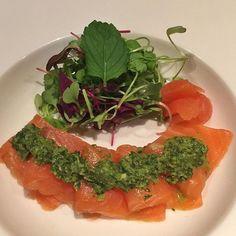 Chef's choice appetizer for ME Salmon Sashimi, Micro Greens, with Chimichurri  and White Truffle Oil @shimogamoaz ❤️ #food #foodie #foodies #foodinstagram #foodporn #japanesefood #japanesecuisine #shimogamoaz #healthyfood #seafood #freshfish #sashimi #sashimilover #salmon #salmonsashimi #microgreens #whitetruffleoil #chimichurri #dinner #dinnertime #appetizer