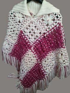 hobby e passioni racchiusi nel mio cassetto: Poncho e gilet con i telai - Poncho and vest with ...