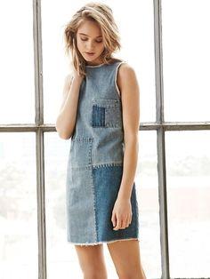 15 Fashion-Forward Ways to Wear Denim This Fall via @WhoWhatWearUK
