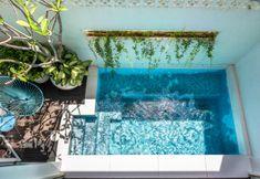 Mini Pool, Small Swimming Pools, Small Pools, Backyard Pool Designs, Small Backyard Pools, Kleiner Pool Design, Small Pool Design, Beautiful Pools, Plunge Pool