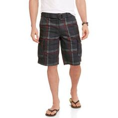 Faded Glory Big Men's Ripstop Cargo Short, Size: 48, Gray