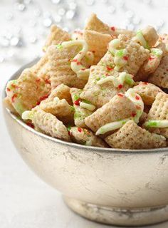 Sugar Cookie Party Chex Mix! Skip the baking, we've got the perfect fix for your sugar cookie craving! Make for your next holiday party or make cute gift bags with this yummy treat.