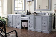118 Quot De Soto Silver Gray Double Sink Bathroom Vanity In 2019 Mold In Bathroom, Double Sink Bathroom, Bathroom Sink Vanity, Vanity Set, White Bathroom, Small Bathroom, Master Bathroom, Bathroom Cabinets, Vanity Ideas