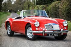 MG A Roadster 1959 The high performance twin cam model of the famous MGA was added to the range in Available in both fixedhead a. New Sports Cars, Exotic Sports Cars, Classic Sports Cars, Sport Cars, Exotic Cars, Classic Cars, Expensive Sports Cars, Mg Cars, Premium Cars