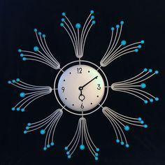 Vintage 50s Forestville Atomic Mid Century Modern Starburst Sunburst Wall Clock