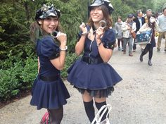 Some very #sexy #Japanese #police #girls @usj_official