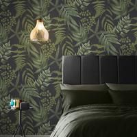 Meiying Wallpaper In 2021 Fern Wallpaper Black Wallpaper Home Wallpaper