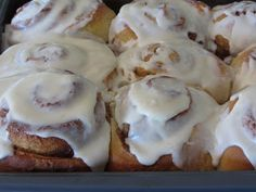 THE cinnamon rolls. Double the filling.