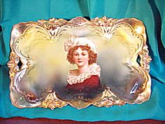 RS PRUSSIA LILY MOLD PORTRAIT O.H. TRAY