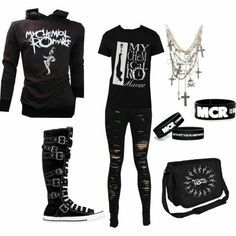 377b70d42667 Emo Style, Emo Clothes For Girls, Emo Girls, Hot Topic Clothes, Outfits