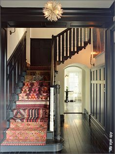 eclectic stair runner