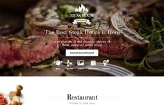 Steak House - Beautifully Designed #Food #Joomla #template for pubs, brasserier, steakhouses.