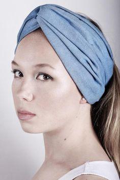 Headband #04.05B in Light Blue Denim