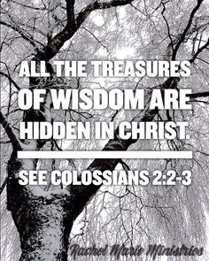 My goal is that they may be encouraged in heart and united in love, so that they may have the full riches of complete understanding, in order that they may know the mystery of God, namely, Christ, in whom are hidden all the treasures of wisdom and knowledge.  - Colossians 2:2-3 NIV
