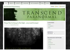 The paranormal website might be clean and organized but that doesn't stop it from giving off a creepy, mysterious sensation. A really good example for an informative paranormal site.