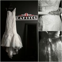 Art Deco Wedding Dress (Photography: JoPhoto). View Wedding - http://www.mazelmoments.com/blog/16306/jewish-interfaith-wedding-art-deco/