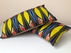 "20"" x 12"" African Wax Print Lombard Pillow Cover  (bespoke)"