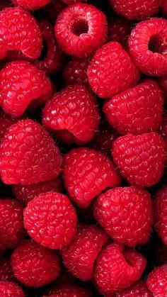 Screensaver with raspberries for summer❤️ - Wallpaper - Fruit