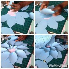 ✂️✏️T U T O R I A L ✂️✏️ Part 2 paperflowers paperflowercenters tutorial paperflowertutorial Paper Flowers Craft, Large Paper Flowers, Paper Flower Backdrop, Giant Paper Flowers, Big Flowers, Flower Crafts, Fabric Flowers, Paper Crafts, Diy Fleur