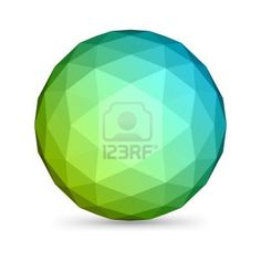 $7 - Abstract 3d origami polygonal sphere vector design element Stock Photo - 10567565