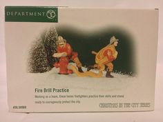 Dept. 56 Christmas in the City Fire Drill Practice -- Special  product just for you. See it now! : Decor Collectible Buildings and Accessories