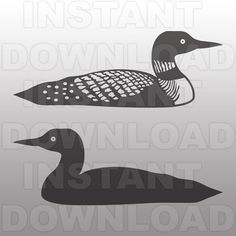 Loon Tattoo, Silhouette Tattoos, Cottage Signs, Printable Pictures, Baby Sewing Projects, Wood Patterns, Woodland Creatures, Stuffed Animal Patterns, Diy Woodworking