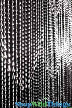 Beaded Curtains, Silver Raindrops Curtain, Metallic Silver Door Beads, Waterfall Curtain Bright Silver, Bright Silver Backdrop Curtains