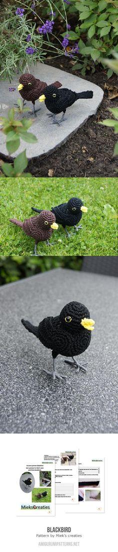 Blackbird Amigurumi Pattern
