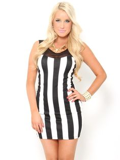 Vertical Stripe #Dress