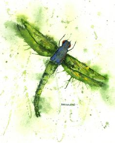 Love the green water colored dragonfly. Would it be good for a tattoo? Dave Bartholet Wildlife Artist