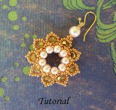PDF for beadwoven earrings beading pattern - beadweaving beading tutorial beaded  seed bead jewelry - CLASSIC ELEGANCE