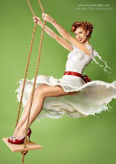 Milky PinUp In the Swing by Jaroslav-AurumLight.deviantart.com on @DeviantArt