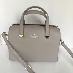 New Kate Spade Allena Satchel SIZE ·      8.5''h x 12''w x 5.5''d ·      drop length: 4.5'' handle, 13-15.5'' adjustable strap MATERIAL ·      soft, smooth cowhide with matching trim ·      14-karat light gold plated hardware ·      custom woven bookstripe print on poly twill lining DETAILS ·      elbow hold with adjustable shoulder strap; zip top closure ·      interior zip with double slide pockets #YBC kate spade Bags Satchels