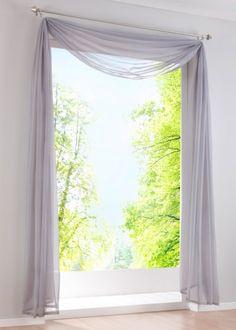 querbehang freihanddeko aus transparentem voile die ideale erg nzung zu unseren. Black Bedroom Furniture Sets. Home Design Ideas