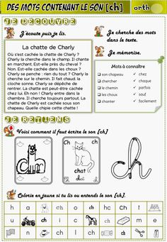 Réviser les sons et les graphies au ce1 - lagedeclasse2 French Class, French Lessons, French Resources, Teaching French, Teaching Materials, Learn French, Love My Job, Learning Centers, French Language