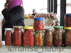 Centenary Farmers Market -  Homemade various chilly and mouthwatering spicy pickles at Centenary Farmers Market in #Thimphu #Bhutan. http://myownwaytotravel.com/top-six-places-to-visit-in-thimphu-bhutan/ #travelbhutan