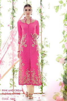 Gracious Pink Color Embroidered Salwar Kameez -$77