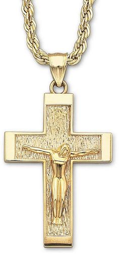 Textured and Polished INRI Crucifix Pendant Jewel Tie Sterling Silver Antiqued